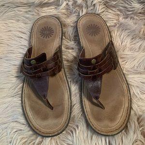 Brown Ugg sandals